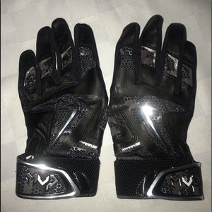 New L XL NIKE MVP Black Baseball Batting Gloves